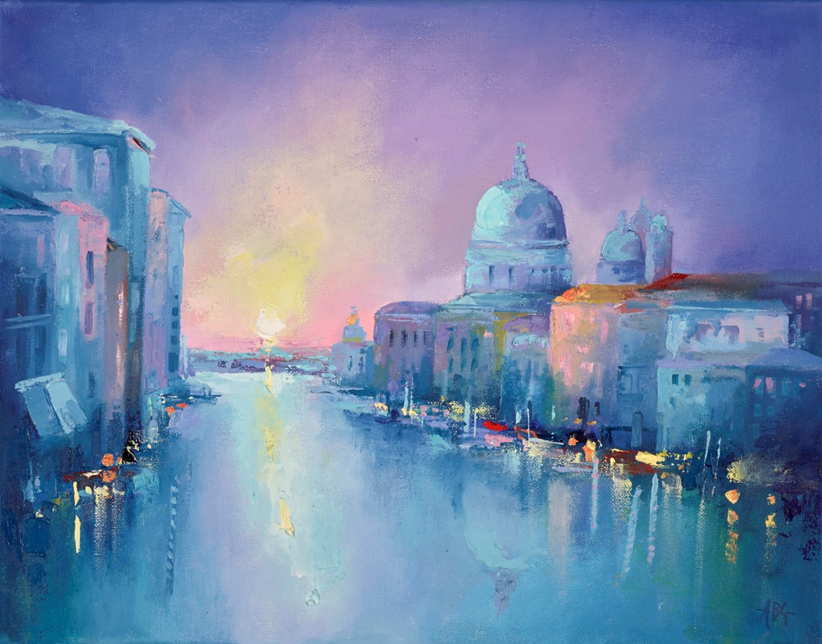 Grand Canal Venice by anna gammans -  sized 18x14 inches. Available from Whitewall Galleries